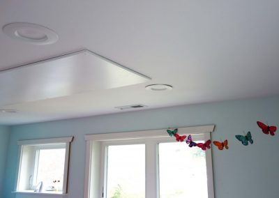 Radiant Ceiling Panel surface mounted in bedroom