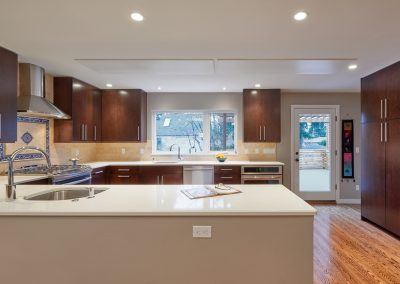 Radiant Ceiling Panels surface mounted in kitchen