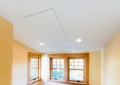 radiant ceiling panels, yellow walls